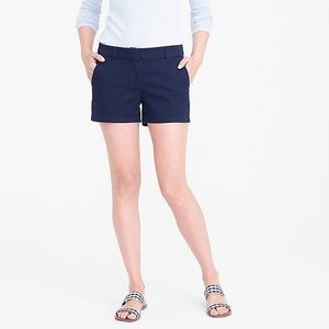 "NWT J. Crew 4"" Chino Short in Navy"